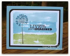 Stamp and Sew For Fun - Watercolor Technique, Stampin' Up!
