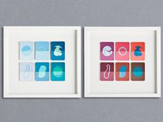 Lizzie Buckmaster Dove, Tide series on paint swatch cards
