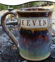 Personalized Handthrown Pottery Stein by Greg Olson