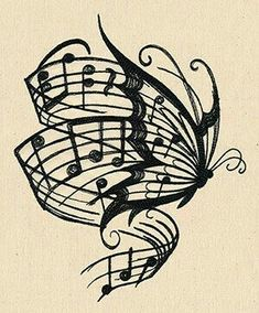 Music and butterfly