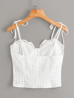 To find out about the Plus Eyelet Embroidery Knot Frill Cami Top at SHEIN, part of our latest Plus Size Tank Tops & Camis ready to shop online today! Striped Cami Tops, Latest Fashion For Women, Womens Fashion, Backless Top, Plus Size Tank Tops, Mannequin, Fashion Outfits, Clothes For Women, Trivia Questions