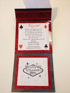 Custom Themed Sweet 16 Invitations Bar Mitzvah Invitation Bat Mitzvah Invitation Las Vegas