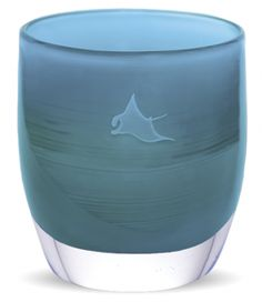 glassybaby - 10% from the sale of each 'manta ray' will be donated to WildAid to support the small village of Lamakera in Indonesia.  in partnership with Racing Extinction, these donations will assist Lamakera in transitioning from a place that has hunted manta rays to near extinction, to a destination for divers and ecotourism.