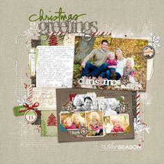 Dec13_Christmas Greetings - Digital Scrapbooking Ideas - DesignerDigitals Scrap your family Christmas photo