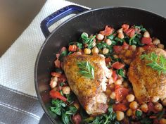 Roasted Chicken with Garbanzo Beans