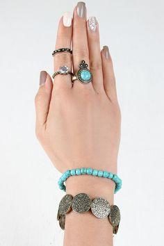 Southwestern Stone Bracelet and Ring Set
