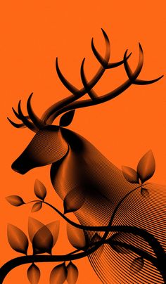 #Animals #illustration with a moiré #pattern by Andrea Minini