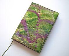 Notebook, Sketchbook, Journal Cover, A5, Handmade Felt, 'Hedgerow' £35.00
