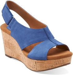 7b80b03bc1c2 Another great find on Blue Caslynn Lizzie Nubuck Leather Wedge by Clarks