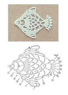 Drop flower in the center with two crochet patterns pinterest crochet appliques a great gift idea to celebrate darwin day crochet a simple fish necklace using this pattern ccuart Choice Image
