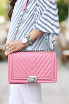 4c8814d7cfdb pink chanel boy bag Business Outfit, Handmade Handbags, White Chanel Bag, Chanel  Boy