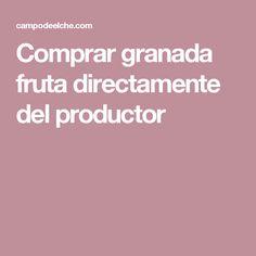 Comprar granada fruta directamente del productor