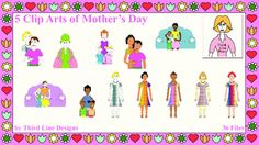 5 Clip Arts of Mother's Day