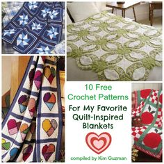 Please be certain to check out the links for the blankets not shown in the image collage. The only reason they're not displayed is because I was unable to get a response from the designer with permission to use the photos. The photos I couldn't show you are the real reason for today&#0