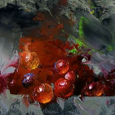Grapes on Fire by David Cheifetz Oil ~ 5 x 5
