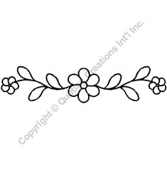 Quilting Stencils > Floral & Leaf Border - Item: on… Hand Embroidery Patterns Free, Border Embroidery Designs, Embroidery Sampler, Vintage Embroidery, Beaded Embroidery, Quilting Designs, Machine Embroidery, Quilting Stencils, Stencil Patterns