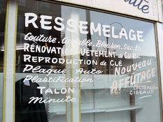 Ressemelage via Jules Vernacular {vintage lettering}