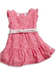 GUESS Kids Girls Baby Lace Dress with Printed Sash and Bl, PINK (6/9M) GUESS Kids. $27.99