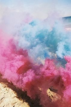 pink and blue smoke bombs #colors #photos