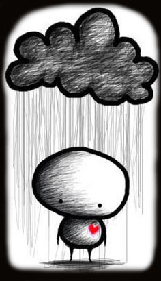 cloudy rain cartoon drawing picture and wallpaper Rain Cartoon, Cartoon People, Cartoon Drawings, Art Drawings, Rain Pictures, My Demons, Lonely, Sketches, Feelings