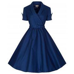 'Courtney' Midnight Blue Swing Dress