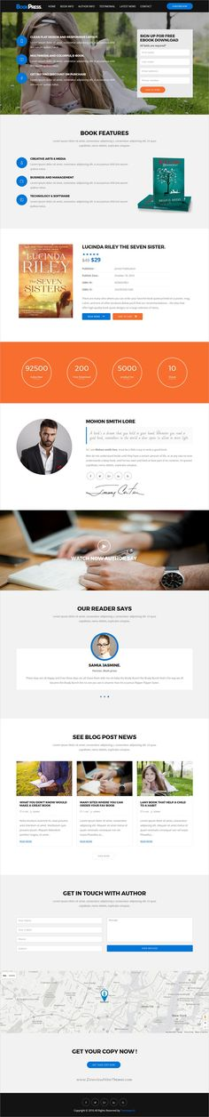 BookPress is light and clean design 4in1 responsive #WordPress theme for #book selling #landing page websites download now➩ https://themeforest.net/item/bookpress-single-author-wp-landing-theme/19392725?ref=Datasata