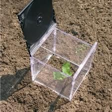 mini greenhouse out of CD cases