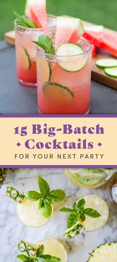 15 Big-Batch Spring Cocktails You Can Make This Summer Party Drinks, Cocktail Drinks, Cocktail Recipes, Alcoholic Drinks, Beverages, Cocktail Movie, Cocktail Attire, Cocktail Shaker, Champagne Cocktail