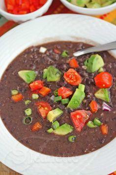 Pressure Cooker Cuban Black Bean Soup Recipe