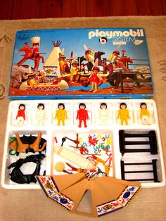 Playmobil Native American Set - these guys used to get plowed by my Playmobil Rhino #toys