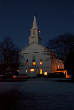 Image result for church building at night