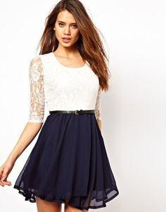 [gryxh3600184]elegant lace bowknot montage dress