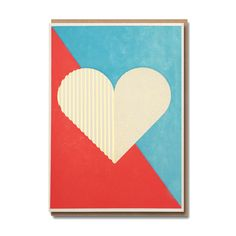 Geometric Heart Card  £2.99  A beautiful greeting card, left blank inside for you to personalise with your prose!