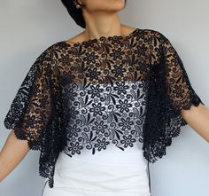 Handmade and Unique Design - - Casual Dresses, Fashion Dresses, Lace Bolero, Dark Navy, Navy Blue, Designs For Dresses, African Lace, Lace Tops, Diy Clothes