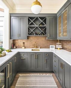 Below are the Chic Farmhouse Kitchen Cabinets Makeover Ideas. This article about Chic Farmhouse Kitchen Cabinets Makeover Ideas was posted  Dark Grey Kitchen Cabinets, Painting Kitchen Cabinets, Kitchen Cabinetry, Brown Cabinets, Kitchen Fixtures, Kitchen Cabinet Paint Colors, Kitchen Grey, Kitchen Appliances, Classic Kitchen