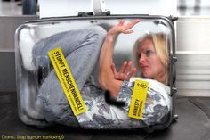 woman in a suitcase - Amnesty International