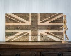 Wall art Union Jack flag wooden carved edition FREE SHIPPING retro style sign carved in salvaged palette wood personalisation possible by DesignAtelierArticle on Etsy https://www.etsy.com/listing/211558514/wall-art-union-jack-flag-wooden-carved