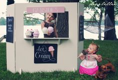 Dear Lillie: Ruffled Ice Cream Cones and an Ice Cream Stand