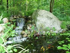 Water Features- naturalized cascade and stream- oldworldstoneandgarden.com