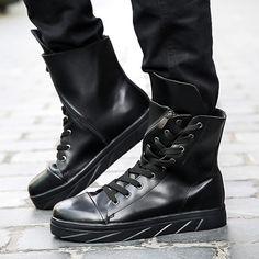Shoespie Unique Lace Up Zipper Men's Boots