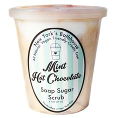 Mint Hot Chocolate Whipped Soap Sugar Scrub – New York's Bathhouse Coffee Face Scrub, Diy Face Scrub, Face Scrub Homemade, Diy Scrub, Homemade Moisturizer, Sugar Scrub Recipe, Sugar Scrub Diy, Sugar Scrubs, Charcoal Face Scrub