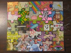 Altered Puzzle - PAPER CRAFTS, SCRAPBOOKING & ATCs (ARTIST TRADING CARDS)