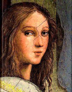 Retrato imaginario de Hipatia, detalle de 'La escuela de Atenas', Rafael Sanzio (1509-1510)