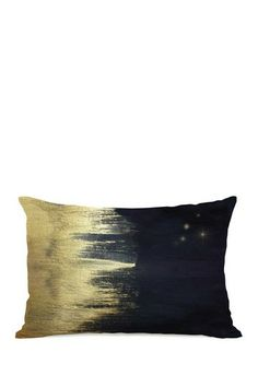 Oliver Gal by One Bella Casa Starry Night Midnight Gold Pillow by Lightning E-Commerce on @HauteLook