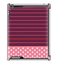 Uncommon LLC Stripe Dot Pink Deflector Hard Case for iPad 2/3/4 (C0050-XZ)