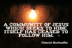 Bonhoeffer quote about following Jesus.