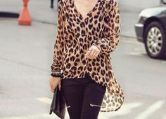 let's shop here : tiger pattern blouse