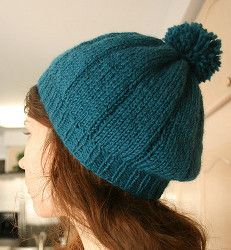 Chunky Beret Pattern | A chunky knit hat in a beautiful color will never go out of style.