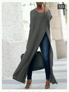 Stylish Solid High Slit Casual Blouse (S - Diy Crafts - hadido