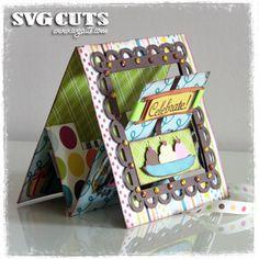 "Thienly's Corner – ""Celebrate"" Pop-up Lever Card | SVGCuts.com Blog"